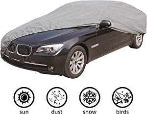 """CARTMAN 5 Layers Car Cover Sedan Cover Windproof/Dustproof/Scratch Resistant Outdoor UV Protection, Size:2XL - Fits Sedan up to 200"""""""