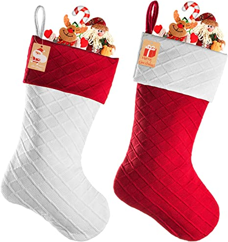 18 Inches for Holiday Decoration Red Christmas Stockings