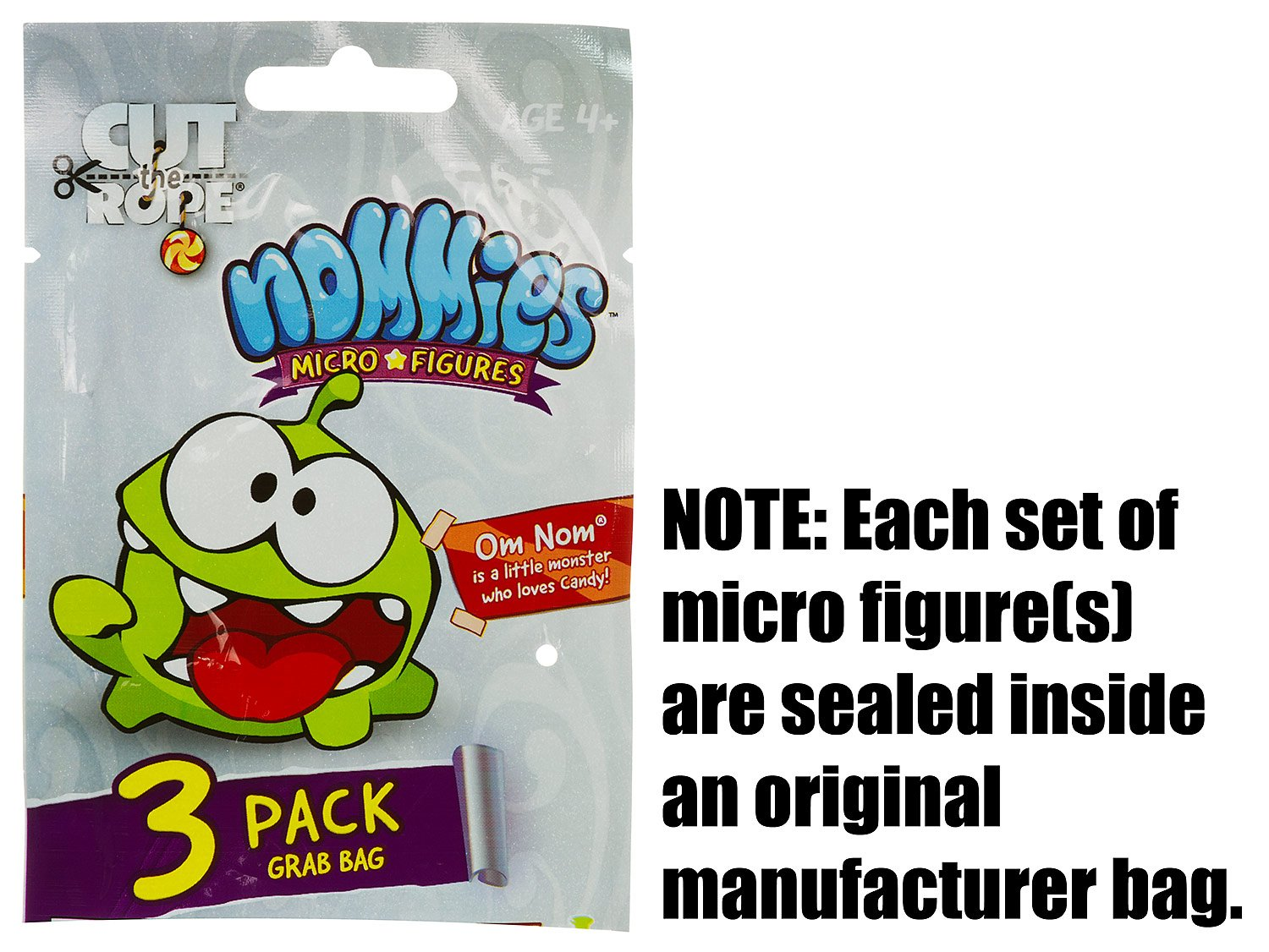Cut The Rope Nommies Collectible ~0.7 Micro-Figures Set #04 Very Rare Round5