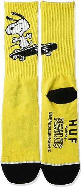HUF Hombre SK00330 Calcetines - Amarillo - talla única