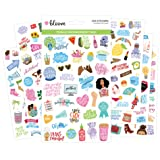 bloom daily planners Female Empowerment Planner Stickers - Variety Pack - 6 Sheets / 250+ Girl Power Themed Stickers (Color: Girl Power Sticker Pack)