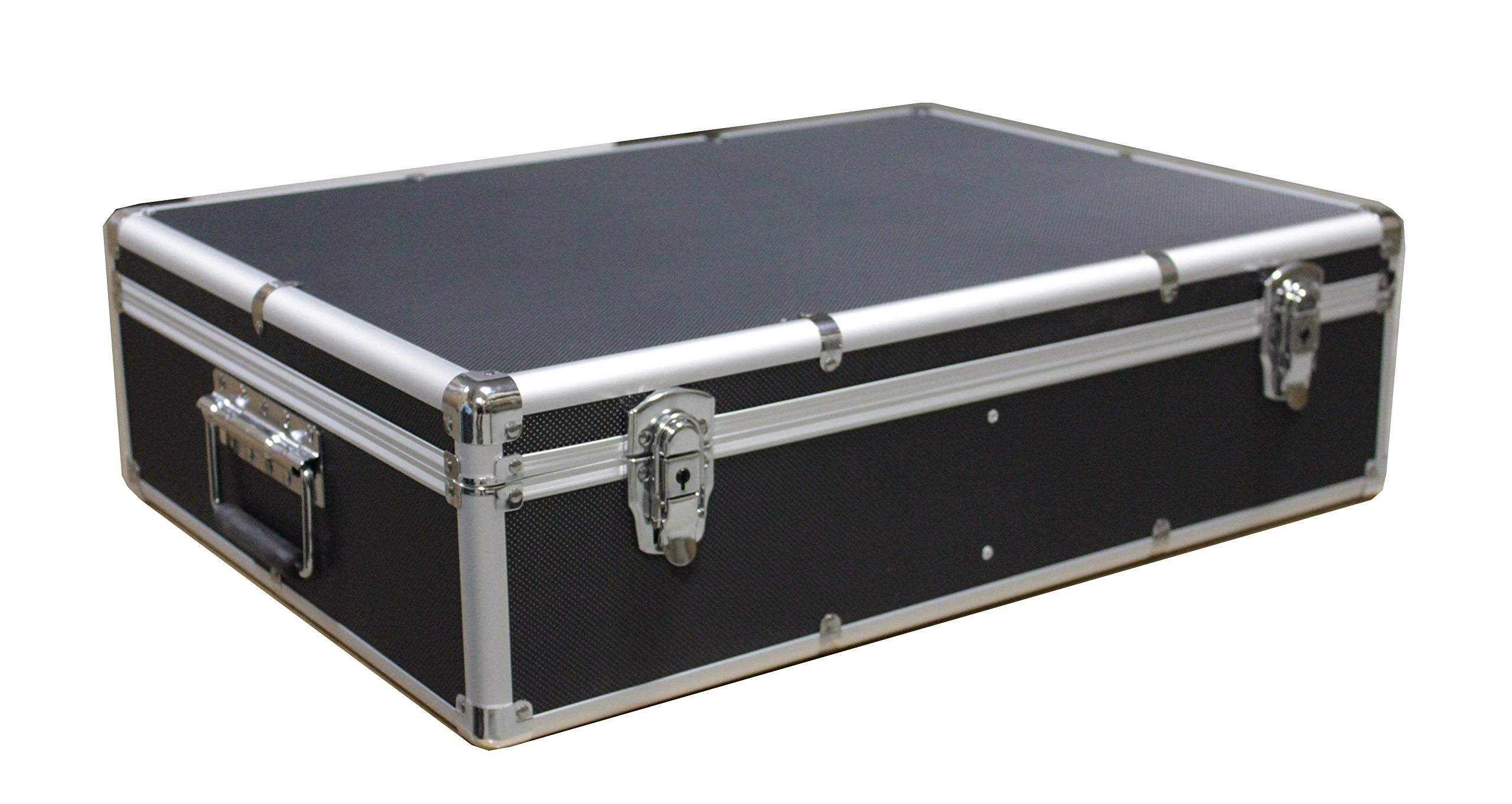 1000 CD DVD Black Aluminum Media Storage Case Mess-Free Holder Box with Sleeves without hanger