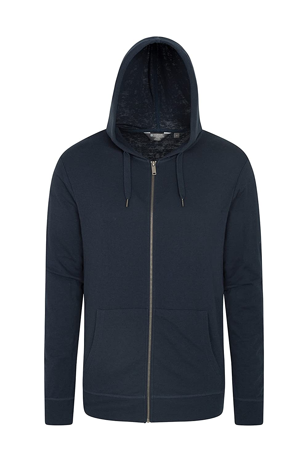 Mountain Warehouse Woolamai Mens Hoodie - Rivestimento di Estate di Antipill, Cappotto conveniente & Casuale Registrabile del Cappuccio, per la Molla Che Viaggia