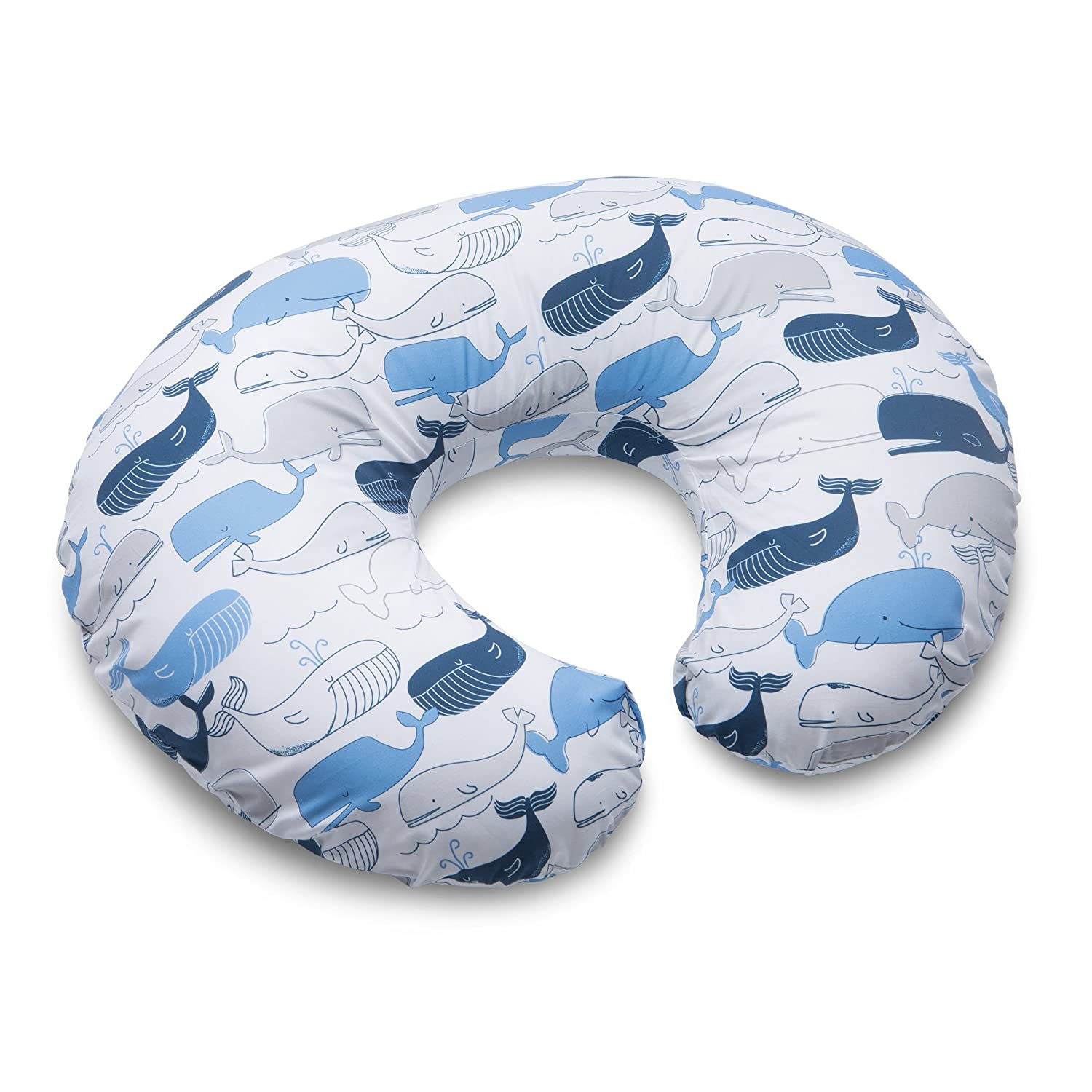 Boppy Nursing Pillow and Positioner, Big Whales, Blue 2200151K AMC