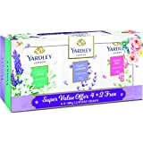 Yardley Soap Multi Pack, 4+2, 100g, Assorted