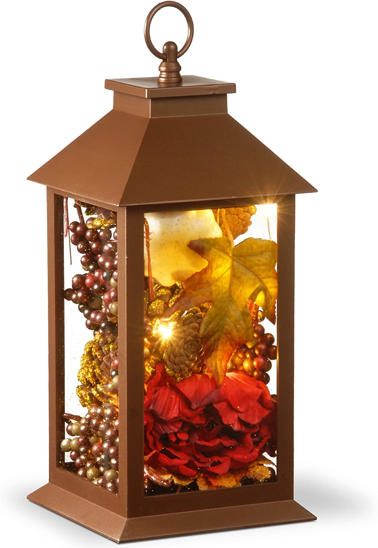 "National Tree 15"" Harvest Arrangment in LED Lantern: Home & Kitchen"