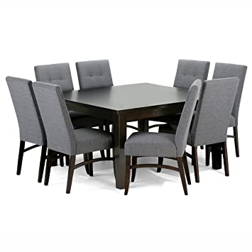 Simpli Home Ezra 9 Piece Dining Set Slate Grey  sc 1 st  Amazon.com & Amazon.com - Simpli Home Ezra 9 Piece Dining Set Slate Grey - Table ...
