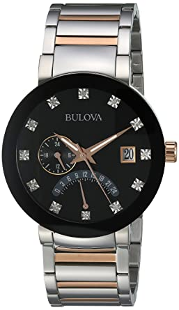 9f84a3a07 Image Unavailable. Image not available for. Color: Bulova Men's Quartz  Stainless Steel Dress Watch ...