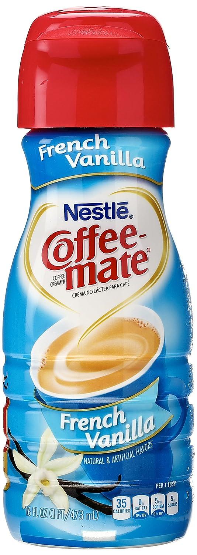 Coffee-Mate, Liquid Coffee Creamer, French Vanilla, Pint, 16 oz: Amazon.com: Grocery & Gourmet Food