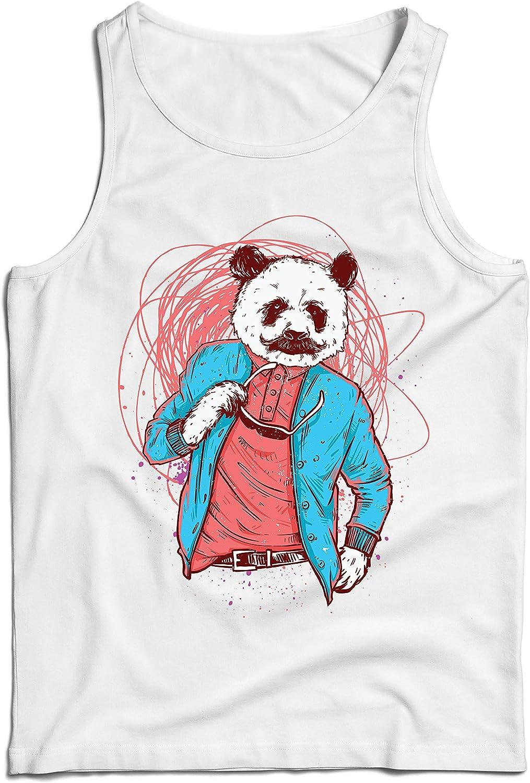 lepni.me Camisetas de Tirantes para Hombre Panda Moderna ...