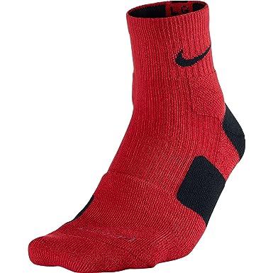 Nike Elite acolchado alta Quarter calcetines hombre rojo/negro ...