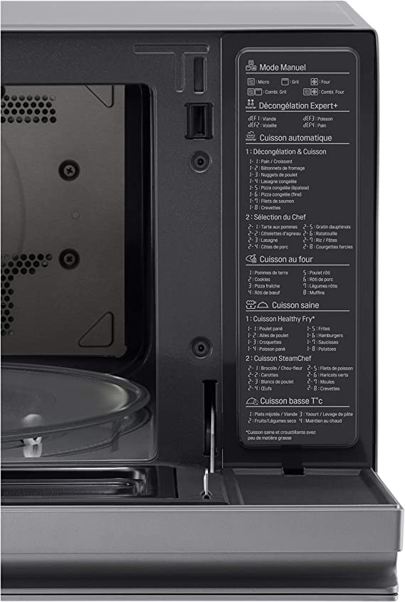 LG MJ3965ACS - Horno Microondas con Grill Smart Inverter ...