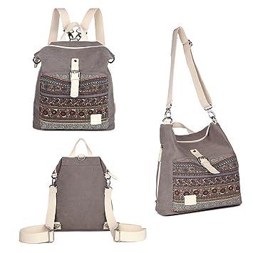 30b7cbe8293 Amazon.com  Womens Backpack Purse 3-way Ladies Vintage Shoulder Bag Casual  Canvas Travel Daypack  UPSTORE