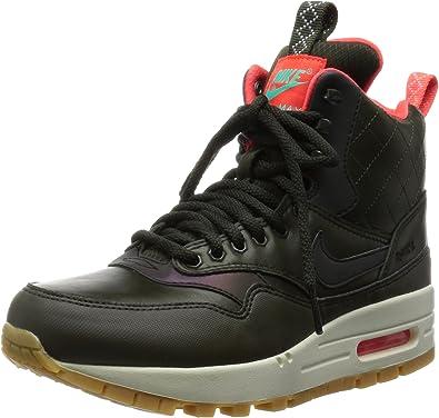 Nike Women's Air Max 1 Mid W Sneakerboot Reflective Sequoia/Menta/Bright Crimson 807307-300