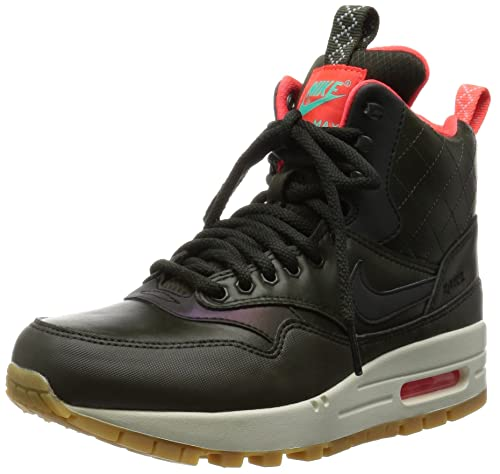 uk availability 60271 795d6 Nike Women s Air Max 1 Mid W Sneakerboot Reflective Sequoia Menta Bright  Crimson 807307