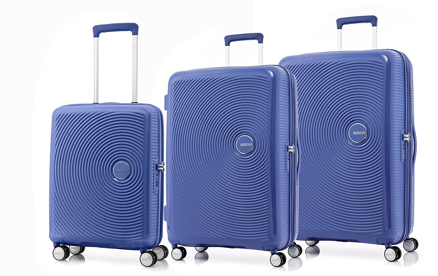 b393c8103 American Tourister Curio Spinner 3-Piece Nested Luggage Set, Denim Blue,  Checked-Medium (Model:86231-1292): Amazon.ca: Luggage & Bags