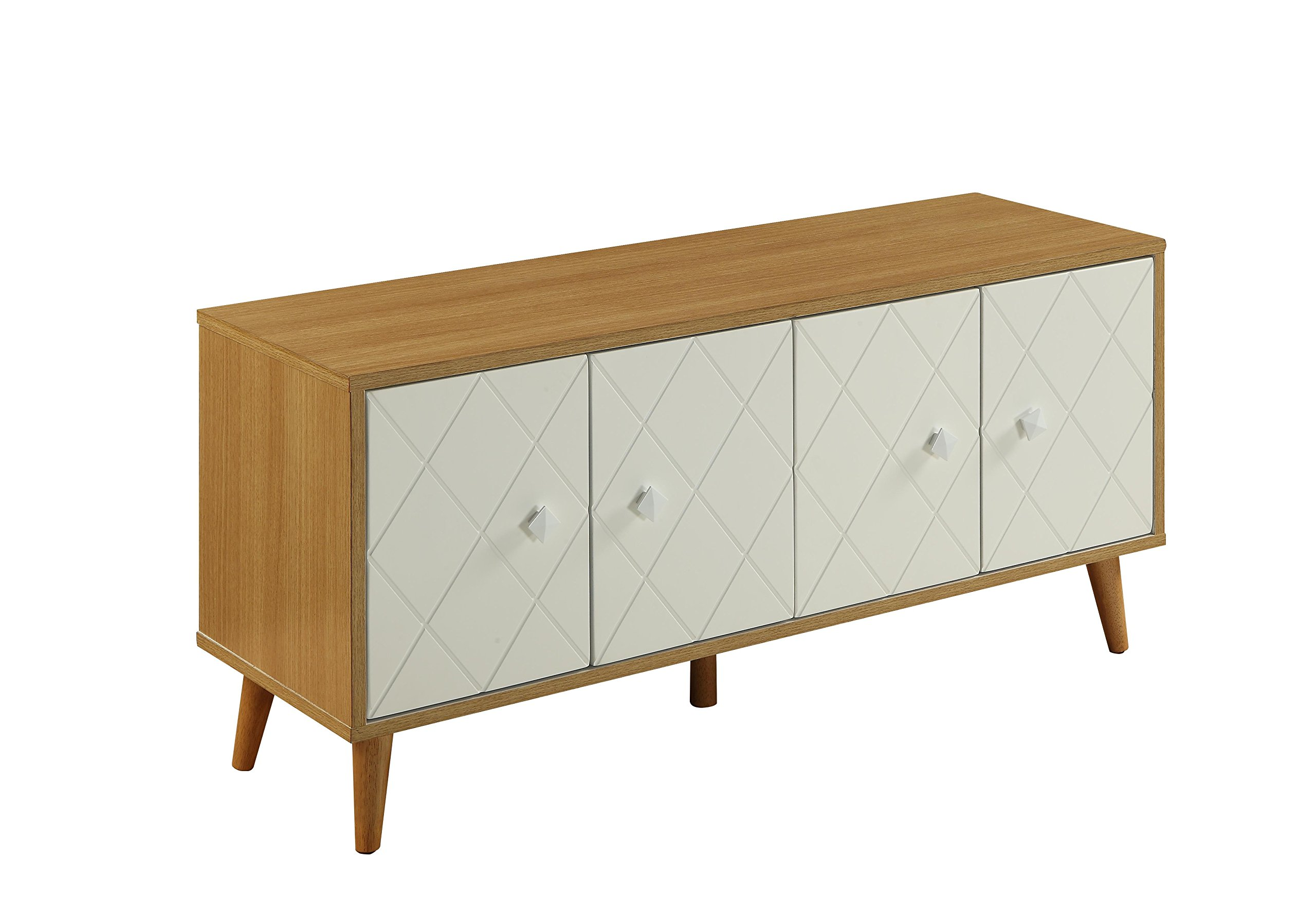 ACME Furniture 90165 Airlia Natural and White Console Table