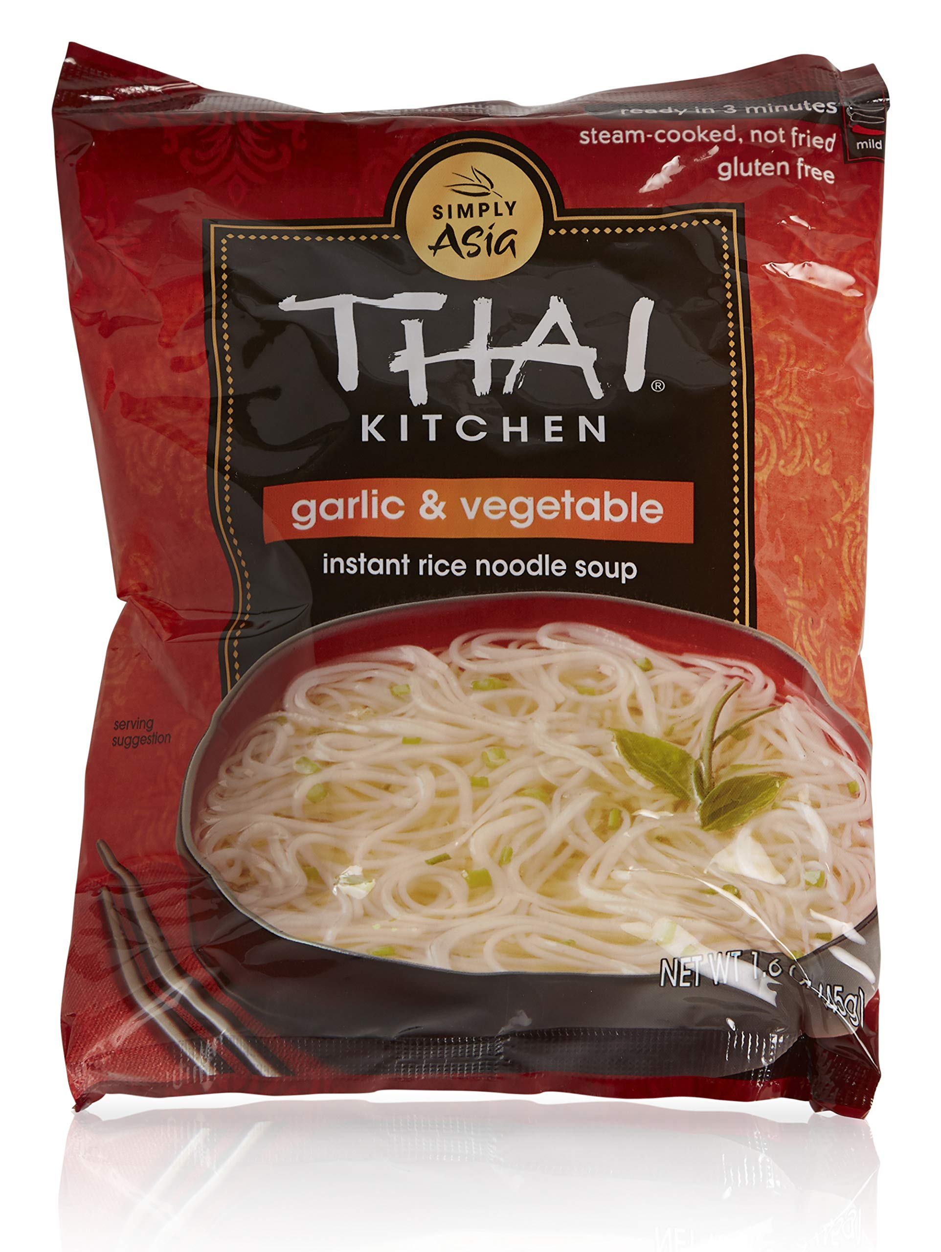 Thai Kitchen Instant Rice Noodle Soup, Garlic and Vegetables, 1.6-Ounce Unit (Pack of 12) by Thai Kitchen