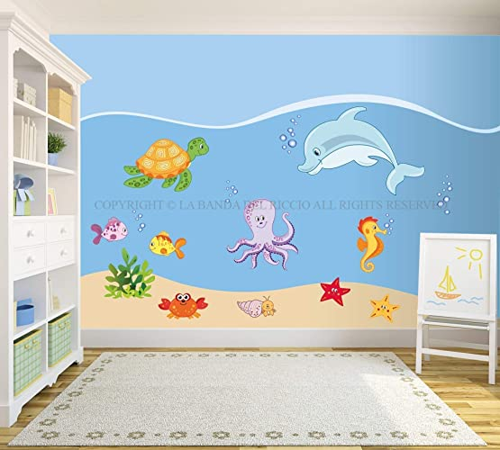 baby wall decal nursery sea wall decal kids wall stickers baby