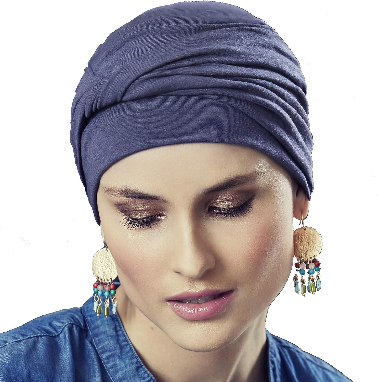 Viva Headwear Gorro oncológico 100% algodón Edith con drapeado ...