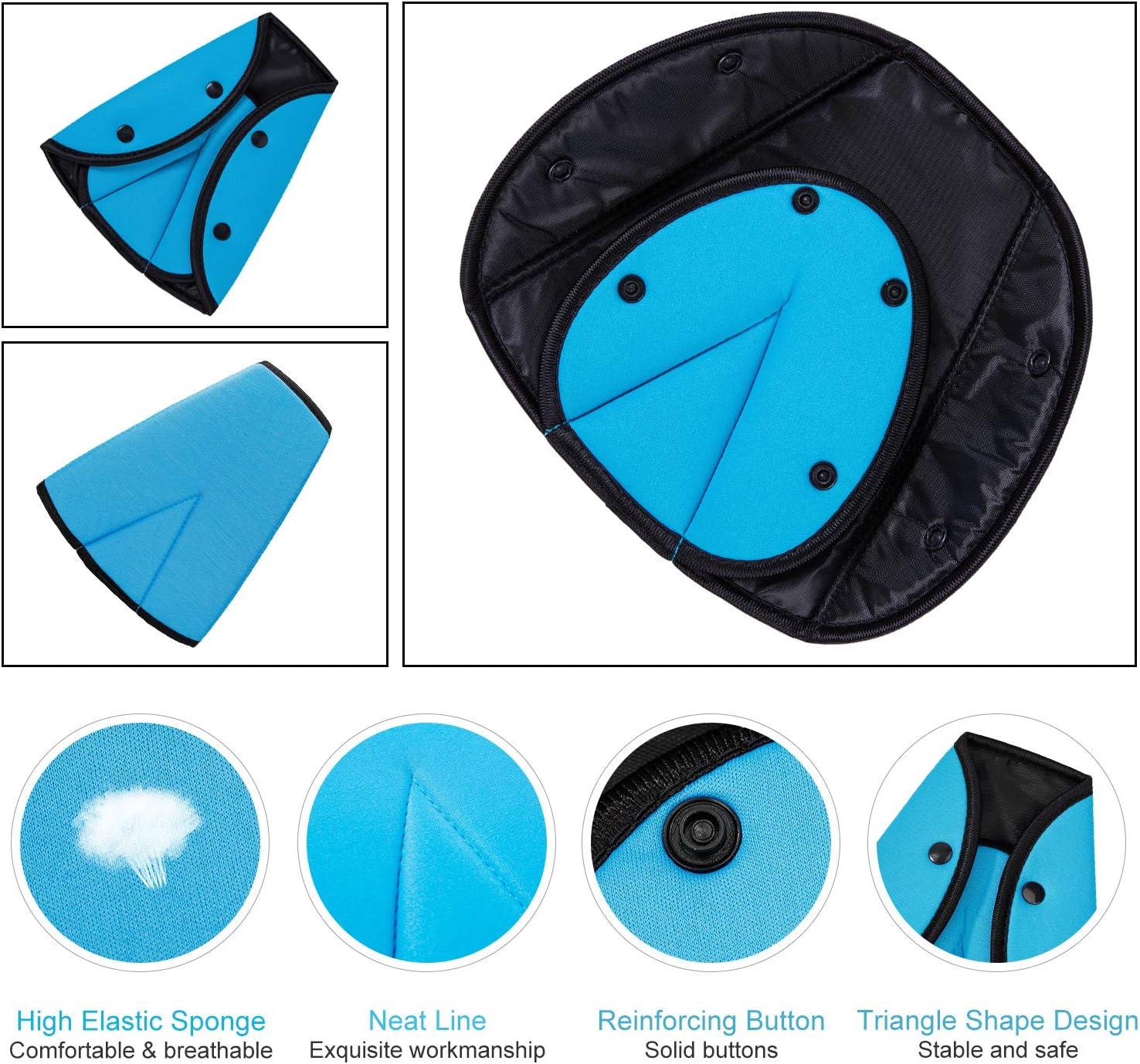 Housse de s/écurit/é r/églable Harnais d/épaule Protection Coussinets pour Adulte Enfants Everpert Voiture Ceinture de s/écurit/é Ajusteur de Triangle
