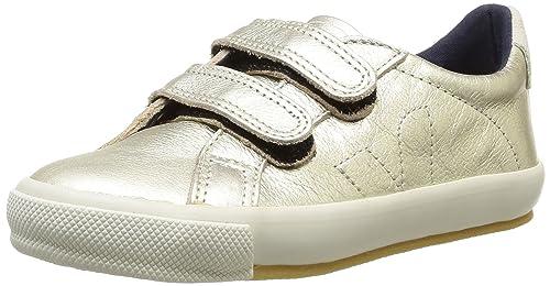 Veja Esplar Velcro Leather - Zapatillas de deporte de cuero para niña dorado Or (Gold) 28: Amazon.es: Zapatos y complementos