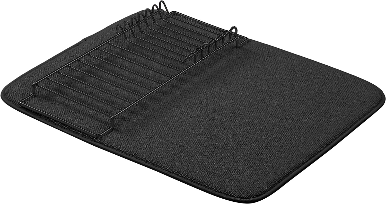 "AmazonBasics Drying Rack and Mat - 16"" x 18"" - Black, 2-Pack"