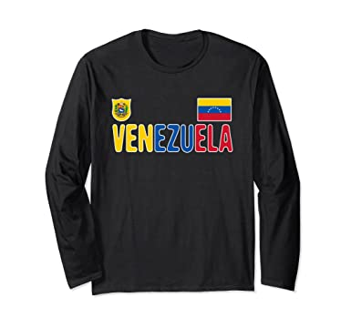 new product 1a203 aa9c3 Venezuela vintage Soccer Jersey Long Sleeve Shirt
