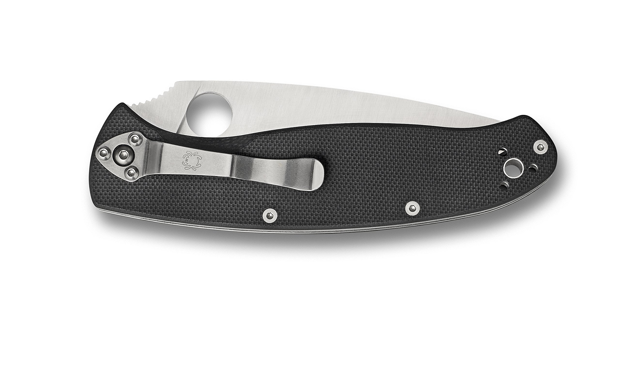 Spyderco Resilience Black G-10 PlainEdge Knife