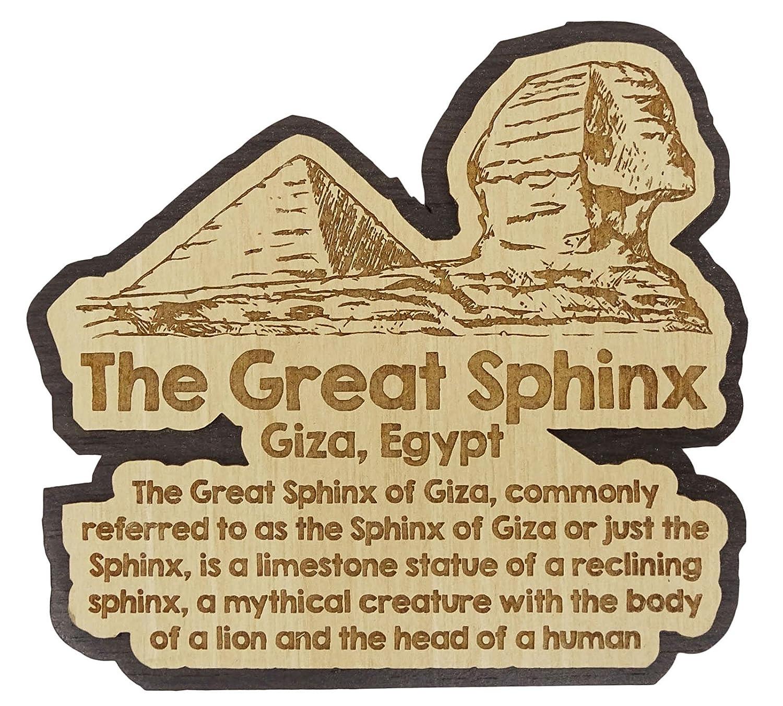 Printtoo Souvenir en bois les pyramides de Giza Egypte grave cadeau daimant de refrigerateur