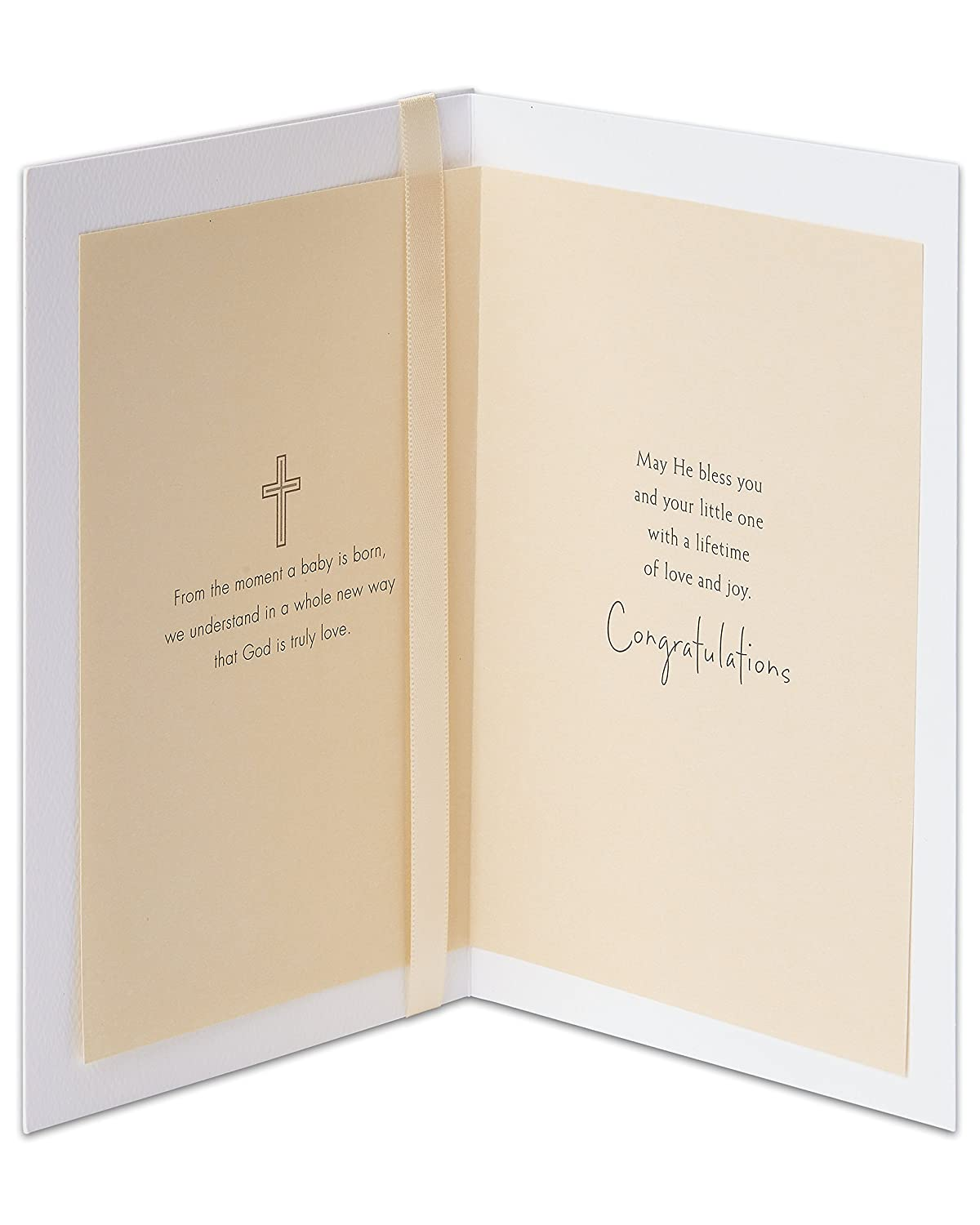 Amazon American Greetings Religious Baptism Card With Ribbon