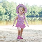 i play. Girls One-piece Skirty Swimsuit with