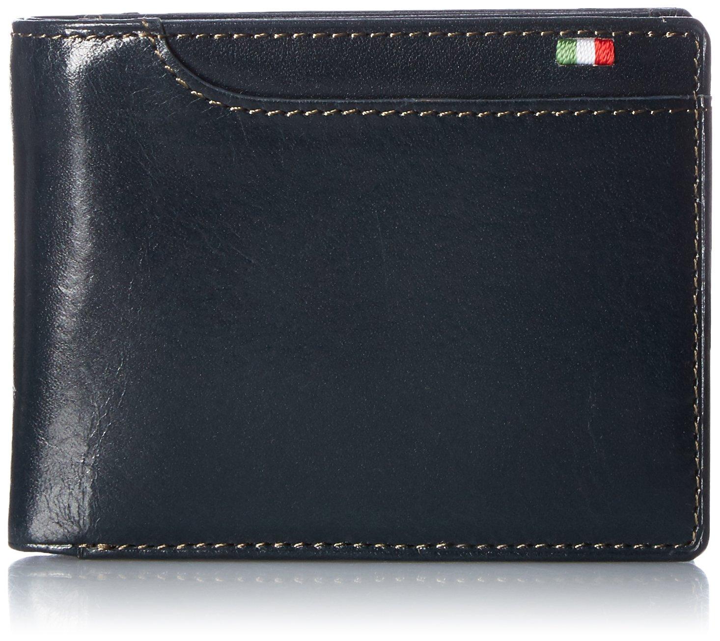 [ミラグロ] 財布 二つ折り財布 小銭入れ ボックス型 タンポナートレザーシリーズ CA-S-2108 B01KLIDEKI ネイビー ネイビー