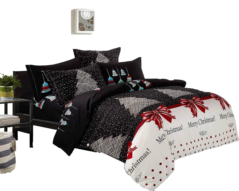 Swanson Beddings Christmas 3-Piece Microfiber Bedding Set: Duvet Cover and Pillow Shams (Full)