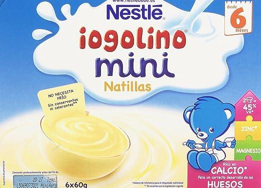 Nestlé Yogolino Postre lácteo Mini Natillas - Para bebés a partir de 6 meses - Paquete