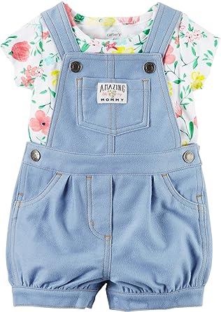 a6e99726 Amazon.com: Carter's Baby Girls' 2 Piece Shortall Set 121g502: Clothing