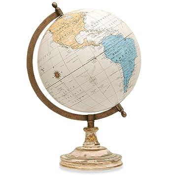Amazon world globe 820cm diameter ball desktop rotating world globe 8quot20cm diameter ball desktop rotating wooden antique decorative gumiabroncs Choice Image