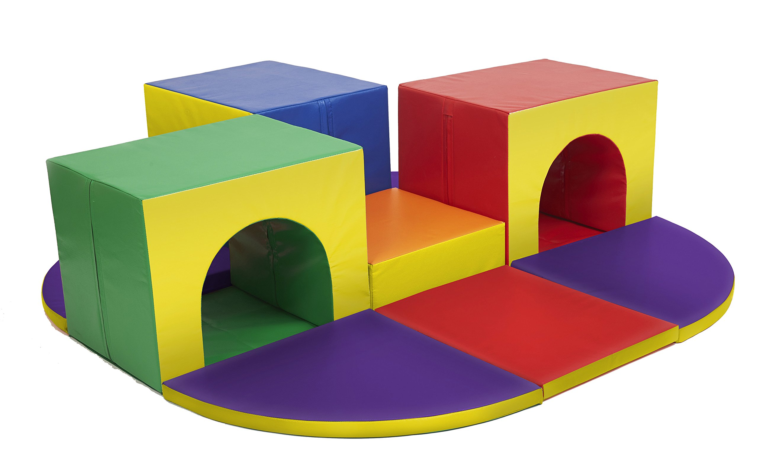 ECR4Kids SoftZone Triple Tunnel Maze Foam Play Climber