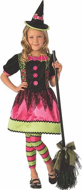 Halloween - Disfraz de Bruja vampiresa para niña, color rosa - 8 ...