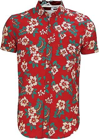 Soulstar Hombre Tiki 3 Camisa De Algodón Estampado Floral En Todas ...