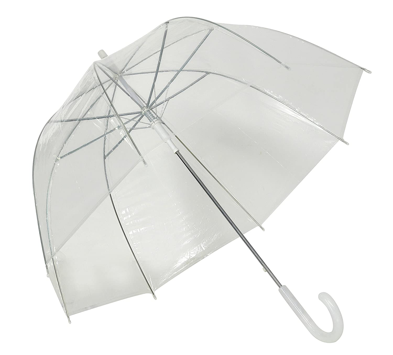 Susino Crystal Clear Dome Stick Umbrella, 90 cm, Clear 3476