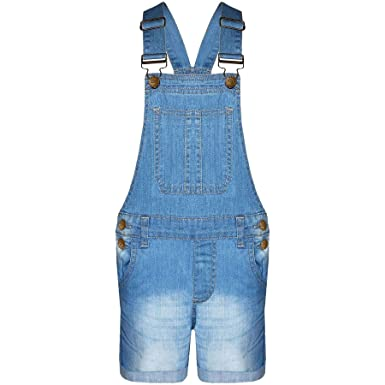 1f14d9cd4e5 A2Z 4 Kids® Kids Girls Dungaree Shorts Denim Stretch Jeans Jumpsuit  Playsuit All in One New Age 5 6 7 8 9 10 11 12 13 Years  Amazon.co.uk   Clothing