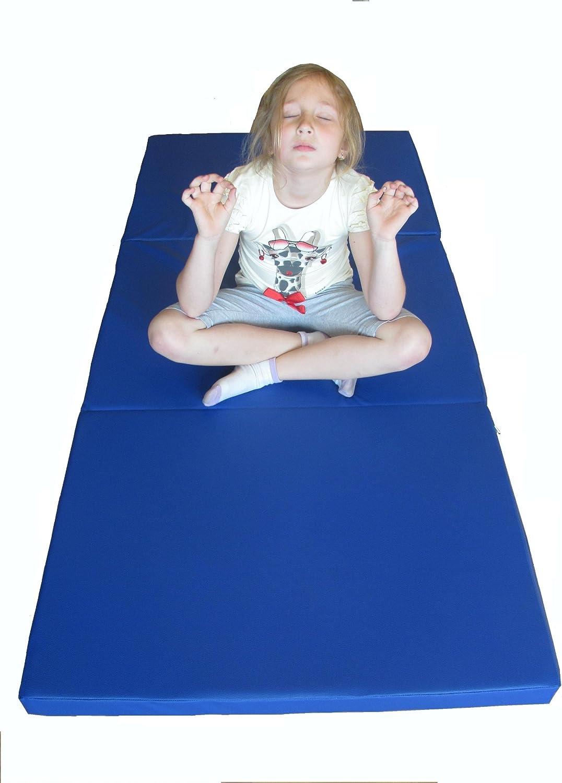 NiroSport Turnmatte 180 x 60 x 5 cm Gymnastikmatte Fitnessmatte Sportmatte Trainingsmatte Weichbodenmatte Wasserdicht klappbar