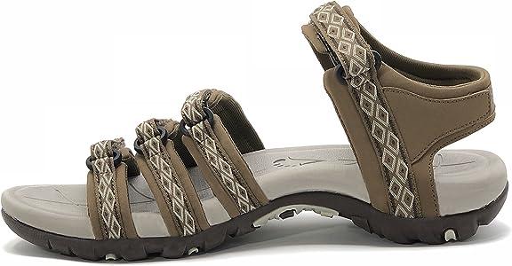 Deportes al Aire Libre y Acu/áticos Sandalias C/ómodas de Estilo Atl/ético para Excursiones Viakix Sandalias de Caminar para Mujeres