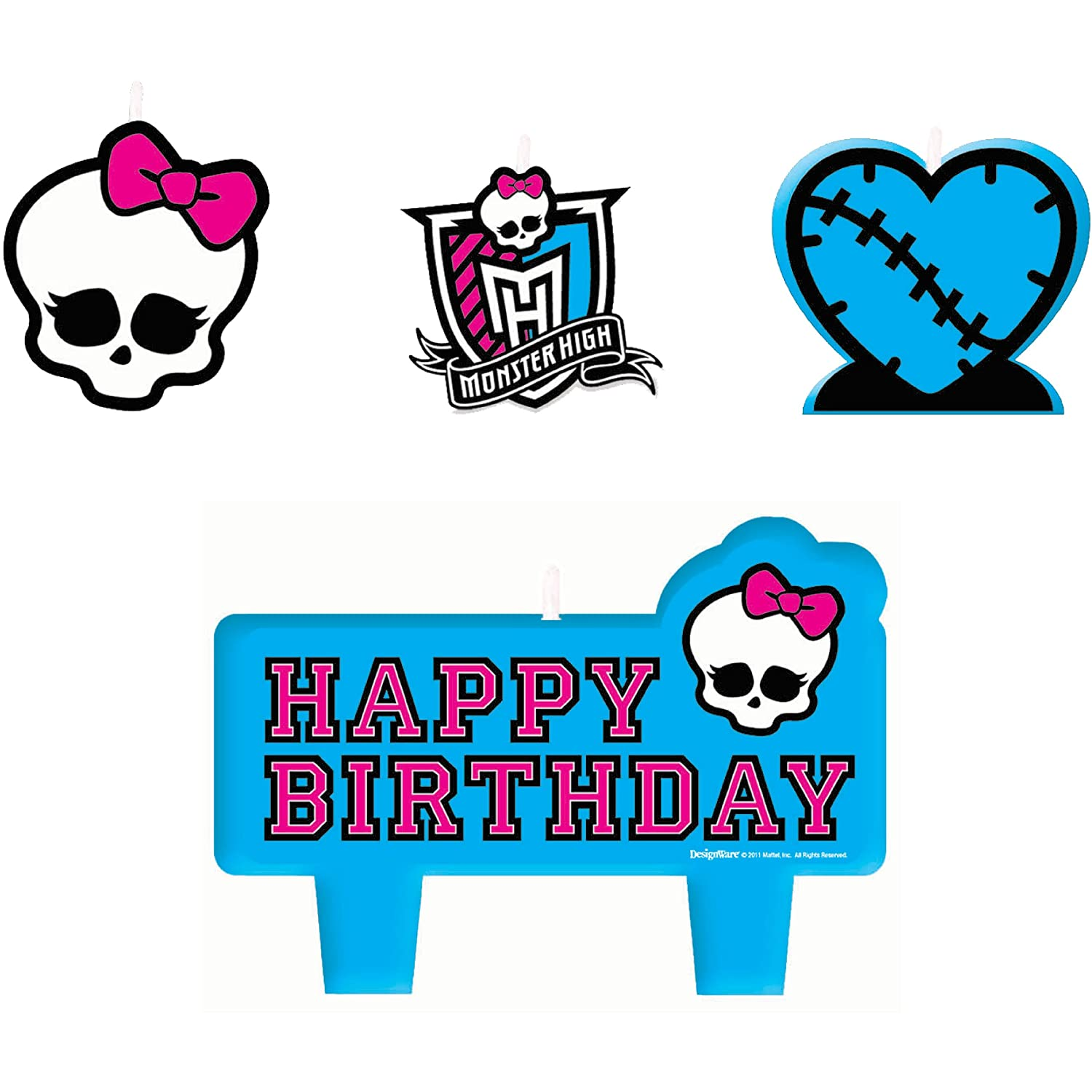 Amazon Monster High Mini Molded Candles Birthday Party – Monster High Birthday Card