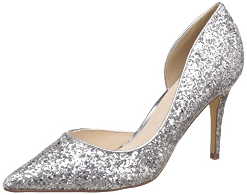 02f9fb7b72a Steve Madden Women s Rachhell Silver Glitter Pumps - 5 UK India (37.5 EU)(7  US)  Buy Online at Low Prices in India - Amazon.in