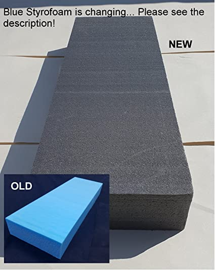 Modelling Foam Sheets (200mm x 600mm x 75mm) by BluefoamUK | Hard and Dense  Black (Used to Be Blue) XPS Foam - Give Your Craft or Hobby Project The