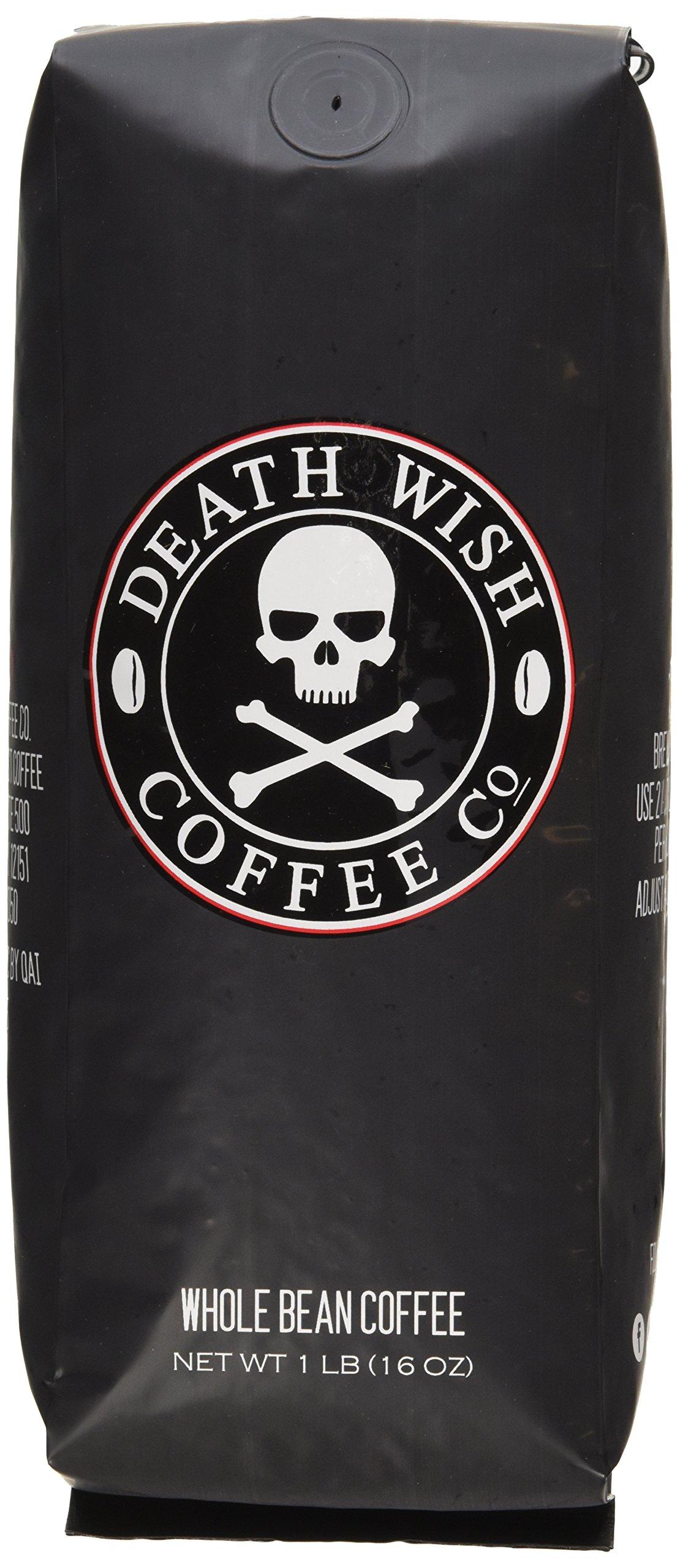 Death Wish Organic USDA Certified Whole Bean Coffee, 16 Ounce Bag by Death Wish Coffee Co.