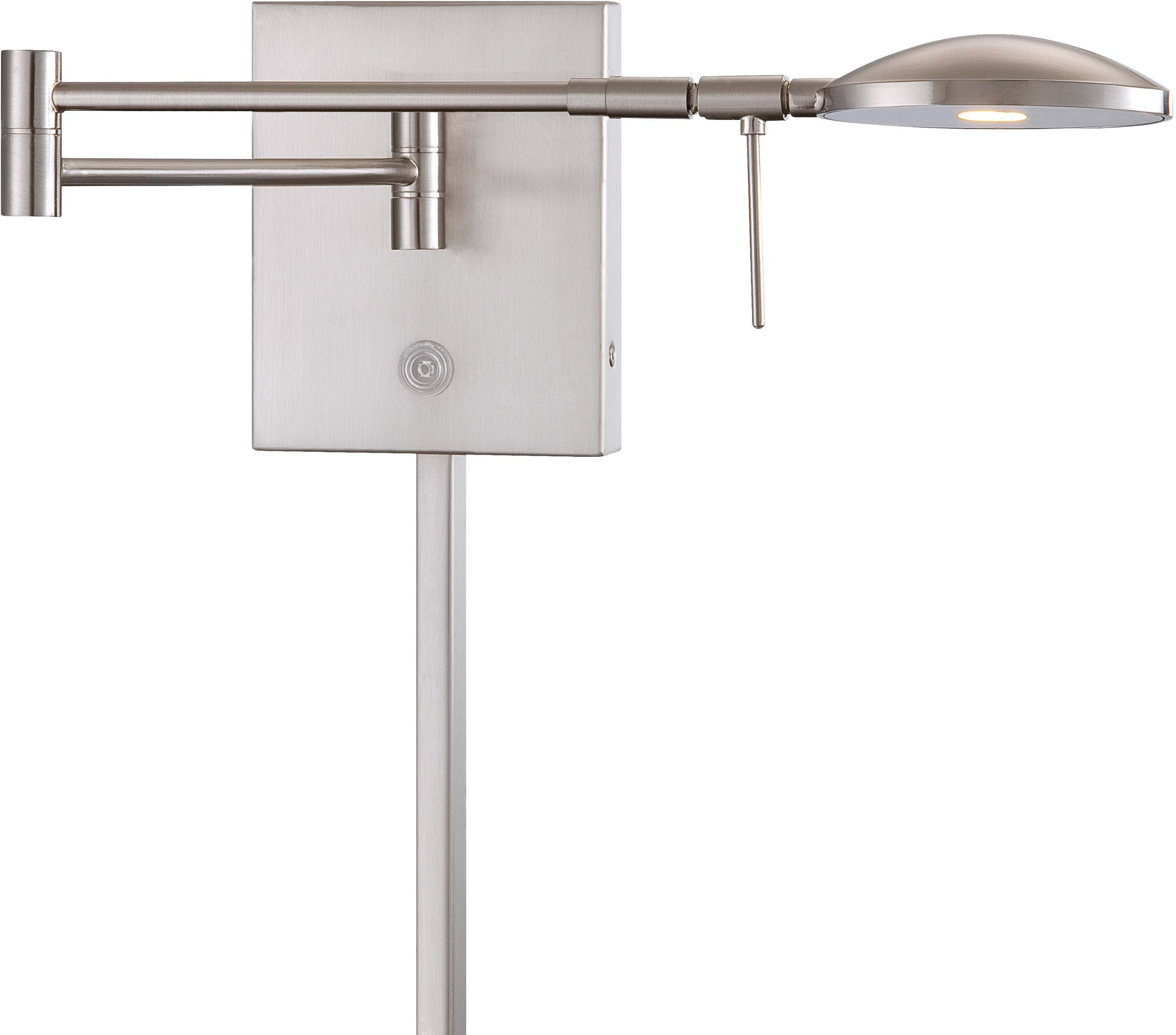 George Kovacs P4338-084, Georges Reading Room, 1 Light LED Swing Arm Wall Lamp, Brushed Nickel by Kovacs