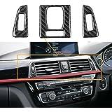 车内装饰盖贴纸真正的碳纤维适用于宝马 3 4 系列 F30 F31 F34 F32 Air Vent Outlet Panel 43483-7896